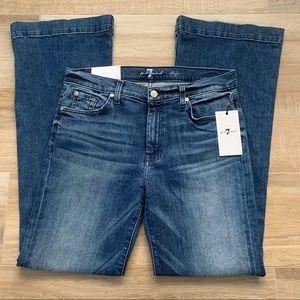 NWT 7FAMK Dojo Bootcut Jeans Sz 31